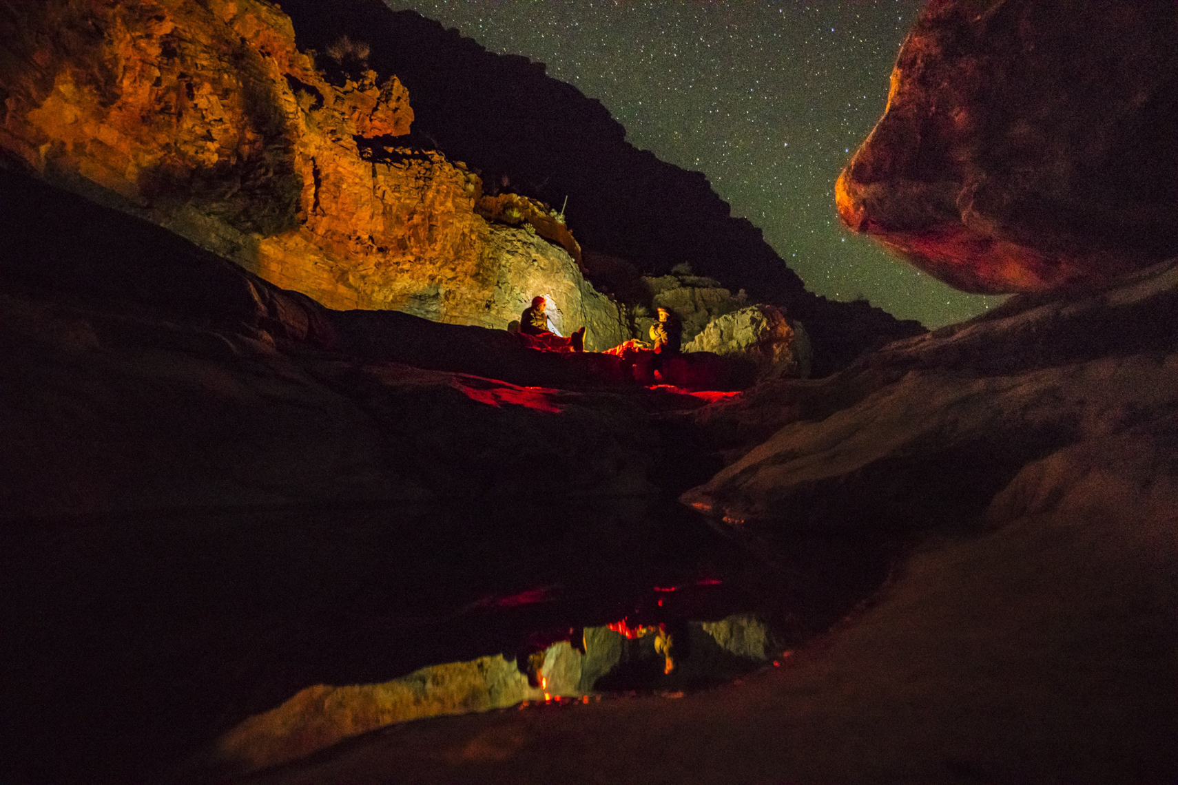 Olo Canyon at Night